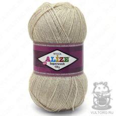 Пряжа Alize Superwash 100, цвет № 152 (Бежевый меланж)