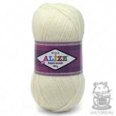 Пряжа Superwash 100 Ализе, цвет № 01 (Кремовый)