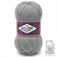 Пряжа Superwash 100 Ализе, цвет № 21 (Серый меланж)