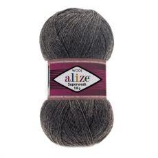 Пряжа Superwash 100 Ализе, цвет № 182 (Темно-серый меланж)