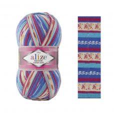 Пряжа Alize Superwash Comfort Socks, цвет № 7654