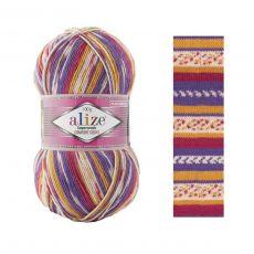 Пряжа Alize Superwash Comfort Socks, цвет № 7655