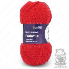 Пряжа Галатея (Астра), цвет Красный