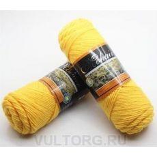 Пряжа Мохер-Альпака, цвет № 24 (Желтый)