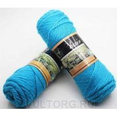 Пряжа Мохер-Альпака, цвет № 30 (Голубая бирюза)