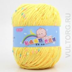 Пряжа Детская Цветной горошек, цвет № 06 (Желтый птенец)