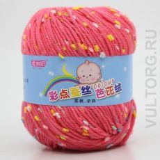 Пряжа Детская Цветной горошек, цвет № 08-В (Розовый)