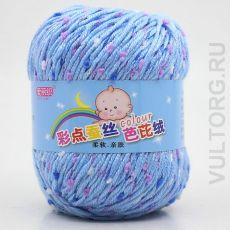 Пряжа Детская Цветной горошек, цвет № 11-А (Голубое небо)