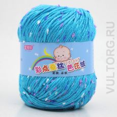 Пряжа Детская Цветной горошек, цвет № 13-А (Бирюзовый)