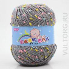 Пряжа Детская Цветной горошек, цвет № 16-В (Пепельный)