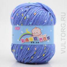 Пряжа Детская Цветной горошек, цвет № 21 (Голубой)