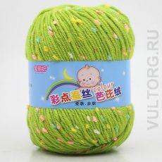 Пряжа Детская Цветной горошек, цвет № 22 (Зеленая трава)