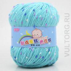 Пряжа Детская Цветной горошек, цвет № 23-А (Аква-голубой)