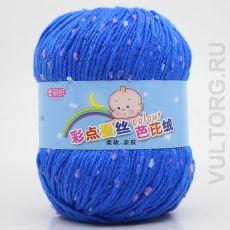 Пряжа Детская Цветной горошек, цвет № 27-А (Ярко-синий)