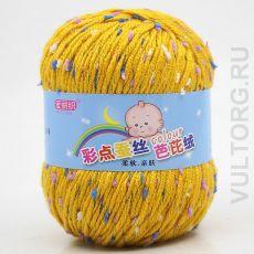Пряжа Детская Цветной горошек, цвет № 29-А (Куркума)