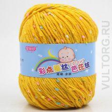 Пряжа Детская Цветной горошек, цвет № 30-В (Куркума)