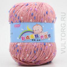 Пряжа Детская Цветной горошек, цвет № 31-А (Светло-розовый)