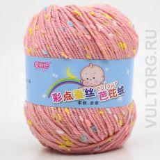 Пряжа Детская Цветной горошек, цвет № 32-В (Светло-розовый)