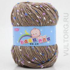 Пряжа Детская Цветной горошек, цвет № 33-А (Верблюжий)