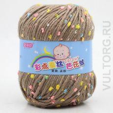 Пряжа Детская Цветной горошек, цвет № 34-В (Верблюжий)
