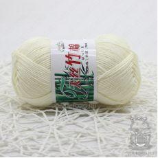 Пряжа Хлопок с бамбуком, цвет № 002 (Молочный)