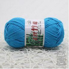 Пряжа Хлопок с бамбуком, цвет № 014 (Голубая бирюза)