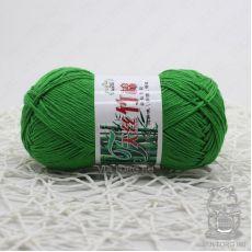 Пряжа Хлопок с бамбуком, цвет № 018 (Зеленый)