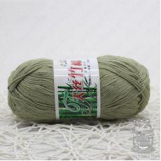 Пряжа Хлопок с бамбуком, цвет № 023 (Пепельно-зеленый)