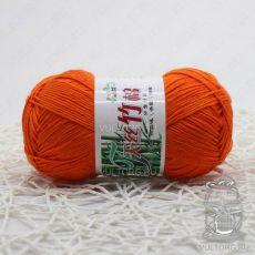 Пряжа Хлопок с бамбуком, цвет № 245 (Оранжевый)
