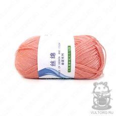 Пряжа Хлопок с шелком, цвет № 09 (Темно-персиковый)