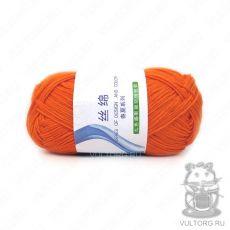 Пряжа Хлопок с шелком, цвет № 10 (Оранжевый)