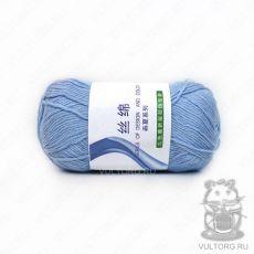 Пряжа Хлопок с шелком, цвет № 13 (Голубой)