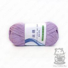 Пряжа Хлопок с шелком, цвет № 15 (Светло-фиолетовый)