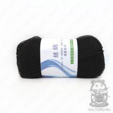 Пряжа Хлопок с шелком, цвет № 23 (Черный)