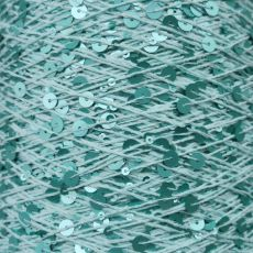 Пряжа Королевские пайетки 3мм+6мм, цвет № 064 (Мята)