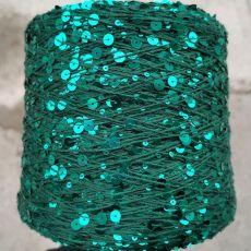 Пряжа Королевские пайетки 3мм+6мм, цвет № 081 (Еловый)