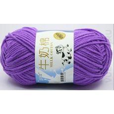 Пряжа Милк Коттон Коровка, цвет № 09 (Фиолетовый)