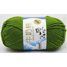 Пряжа Милк Коттон Коровка, цвет № 14 (Зелёный)