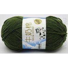 Пряжа Милк Коттон Коровка, цвет № 26 (Армейский зеленый)