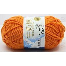 Пряжа Милк Коттон Коровка, цвет № 64 (Оранжевый)