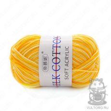 Пряжа Милк Коттон Принт Софт, цвет № 02 (Желтый)