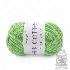 Пряжа Милк Коттон Принт Софт, цвет № 03 (Зеленый)