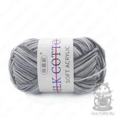 Пряжа Милк Коттон Принт Софт, цвет № 07 (Серый)