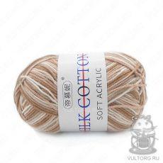 Пряжа Милк Коттон Принт Софт, цвет № 33 (Какао с молоком)