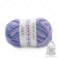 Пряжа Милк Коттон Принт Софт, цвет № 34 (Пыльная фиалка)