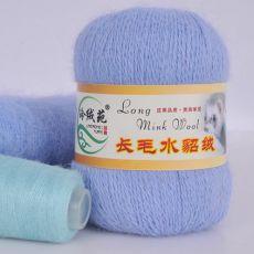 Пряжа Пух норки, цвет № 008 (Голубое небо)