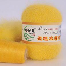 Пряжа Пух норки, цвет № 018 (Ярко-желтый)