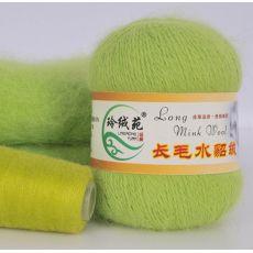 Пряжа Пух норки, цвет № 019 (Зеленый фрукт)