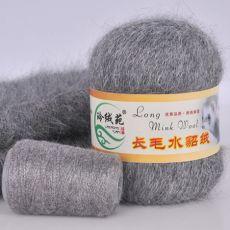 Пряжа Пух норки, цвет № 022 (Темно-серый)