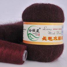 Пряжа Пух норки, цвет № 029 (Красный кофе)